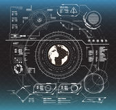 στοιχεία infographic Head-up στοιχεία επίδειξης για τον Ιστό και app Φουτουριστικό ενδιάμεσο με τον χρήστη Εικονικός γραφικός ελεύθερη απεικόνιση δικαιώματος
