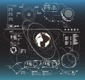 στοιχεία infographic Head-up στοιχεία επίδειξης για τον Ιστό και app Φουτουριστικό ενδιάμεσο με τον χρήστη Εικονικός γραφικός Στοκ φωτογραφία με δικαίωμα ελεύθερης χρήσης