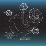 στοιχεία infographic Head-up στοιχεία επίδειξης για τον Ιστό και app Φουτουριστικό ενδιάμεσο με τον χρήστη Εικονικός γραφικός Στοκ Εικόνα