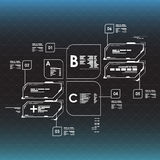 στοιχεία infographic Head-up στοιχεία επίδειξης για τον Ιστό και app Φουτουριστικό ενδιάμεσο με τον χρήστη Εικονικός γραφικός Στοκ εικόνες με δικαίωμα ελεύθερης χρήσης