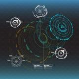 στοιχεία infographic Head-up στοιχεία επίδειξης για τον Ιστό και app Φουτουριστικό ενδιάμεσο με τον χρήστη Εικονικός γραφικός Στοκ Εικόνες