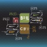 στοιχεία infographic Head-up στοιχεία επίδειξης για τον Ιστό και app Φουτουριστικό ενδιάμεσο με τον χρήστη Εικονικός γραφικός Στοκ εικόνα με δικαίωμα ελεύθερης χρήσης