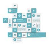 Στοιχεία Infographics και Ιστού Στοκ Φωτογραφία