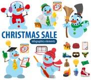 Στοιχεία infographics πώλησης Χριστουγέννων Στοκ Εικόνα