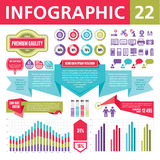 Στοιχεία 22 Infographics Στοκ εικόνα με δικαίωμα ελεύθερης χρήσης