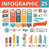Στοιχεία 25 Infographics Στοκ Φωτογραφίες