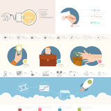 Στοιχεία Infographics ελεύθερη απεικόνιση δικαιώματος