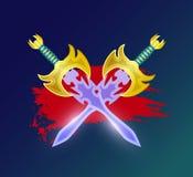 Στοιχείο αντίθεσης πάλης με διασχισμένος sabres ελεύθερη απεικόνιση δικαιώματος