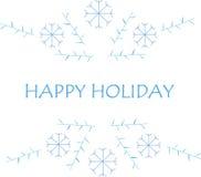 Στοιχείο απεικόνισης, επιγραφή, καλές διακοπές, μπλε χρώμα, αντικείμενο στο λευκό Στοκ Εικόνες