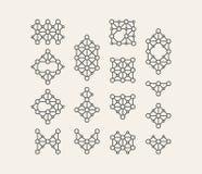 Στοιχείο διακοσμήσεων Σχέδιο τέχνης γραμμών για τις προσκλήσεις, τις αφίσες και τα διακριτικά Διανυσματική απεικόνιση για το μάρκ Στοκ Φωτογραφίες