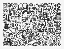 Στοιχείο δικτύων Doodle Στοκ εικόνες με δικαίωμα ελεύθερης χρήσης