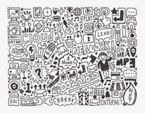 Στοιχείο δικτύων Doodle Στοκ εικόνα με δικαίωμα ελεύθερης χρήσης