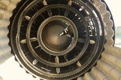 Στοιχείο κινήσεων μέσα στη μηχανή αεροσκαφών Στοκ εικόνα με δικαίωμα ελεύθερης χρήσης