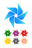 Στοιχείο λογότυπων ανεμόμυλων σχεδίου. Στοκ εικόνα με δικαίωμα ελεύθερης χρήσης