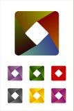 Στοιχείο λογότυπων ορθογωνίων σχεδίου. Στοκ εικόνα με δικαίωμα ελεύθερης χρήσης