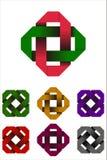 Στοιχείο λογότυπων ορθογωνίων σχεδίου. Στοκ φωτογραφίες με δικαίωμα ελεύθερης χρήσης
