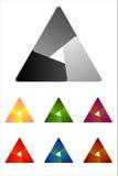 Στοιχείο λογότυπων τριγώνων σχεδίου. Στοκ Φωτογραφία