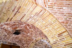 Στοιχείο μιας αψίδας του τούβλου σχηματισμένο αψίδα ανώτατο στοκ φωτογραφίες