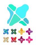 Στοιχείο λογότυπων λουλουδιών σχεδίου. Στοκ Εικόνα