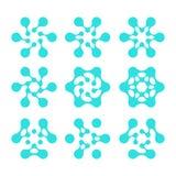 Στοιχείο λογότυπων σχεδίου. Αφηρημένο διάνυσμα μορίων νερού Στοκ εικόνα με δικαίωμα ελεύθερης χρήσης