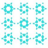Αφηρημένο διανυσματικό πρότυπο μορίων νερού Στοκ φωτογραφία με δικαίωμα ελεύθερης χρήσης
