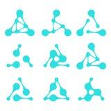 Στοιχείο λογότυπων τριγώνων σχεδίου Στοκ Φωτογραφία