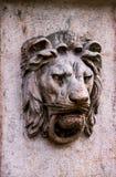 Στοιχείο οικοδόμησης της Βουδαπέστης με τον κινητήριο ενός λιονταριού Στοκ εικόνα με δικαίωμα ελεύθερης χρήσης