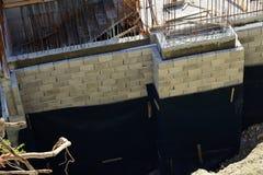 Στοιχείο προστασίας του τοίχου ιδρύματος στοκ εικόνα