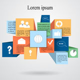 Στοιχείο πληροφορία-γραφικό με το επίπεδο εικονίδιο απόθεμα σχεδίου Ιστού Στοκ εικόνες με δικαίωμα ελεύθερης χρήσης