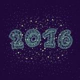 Στοιχείο σχεδίου ευχετήριων καρτών καλής χρονιάς 2016 Στοκ Εικόνες