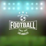 Στοιχείο σχεδίου διακριτικών τυπογραφίας ποδοσφαίρου ποδοσφαίρου Στοκ εικόνα με δικαίωμα ελεύθερης χρήσης