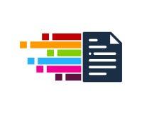 Στοιχείο σχεδίου λογότυπων εικονιδίων εγγράφων εικονοκυττάρου ελεύθερη απεικόνιση δικαιώματος