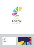 Στοιχείο σχεδίου λογότυπων με το πρότυπο επαγγελματικών καρτών Στοκ Φωτογραφίες