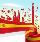 Στοιχείο της Ισπανίας στη σημαία ελεύθερη απεικόνιση δικαιώματος