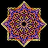 Στοιχείο της περσικής κουβέρτας - μαύρο αστέρι Στοκ Φωτογραφίες