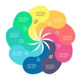 Στοιχείο Infographic με τα στριμμένα πέταλα Στοκ Φωτογραφία