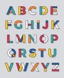Στοιχειοθετημένο πηγή διανυσματικό σχέδιο αλφάβητου Στοκ Εικόνα