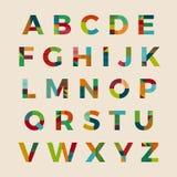 Στοιχειοθετημένο πηγή διανυσματικό σχέδιο αλφάβητου Στοκ Φωτογραφίες