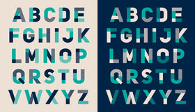 Στοιχειοθετημένο πηγή σχέδιο αλφάβητου Στοκ Εικόνες