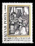 Στοιχειοθετώντας, 500 έτη ουγγρικής εκτύπωσης serie, circa 1973 στοκ εικόνες