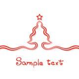 Στοιχειώδης κάρτα Χριστουγέννων Στοκ Φωτογραφία