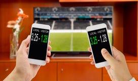 Στοιχημάτιση στο ποδόσφαιρο Στοκ φωτογραφία με δικαίωμα ελεύθερης χρήσης
