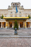 ΣΤΟΚΧΟΛΜΗ - 18 ΔΕΚΕΜΒΡΊΟΥ: Η είσοδος στο βασιλικό θέατρο Dramaten W Στοκ εικόνες με δικαίωμα ελεύθερης χρήσης