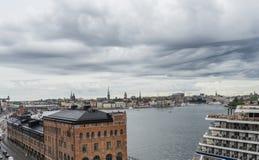 ΣΤΟΚΧΟΛΜΗ, ΣΟΥΗΔΙΑ - 09, 2017: Εναέρια θάλασσα άποψης και παλαιά πόλη σε Sto Στοκ φωτογραφίες με δικαίωμα ελεύθερης χρήσης