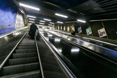 ΣΤΟΚΧΟΛΜΗ, ΣΟΥΗΔΙΑ - 22$ος του Μαΐου του 2014 Υπόγειος σταθμός τ-Centralen μετρό της Στοκχόλμης - ένας από τον ομορφότερο σταθμό  Στοκ Φωτογραφία