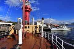 Στοκχόλμη, Σουηδία - Museifartygen - θαλάσσιο μουσείο που εκθέτει Swe Στοκ Εικόνες
