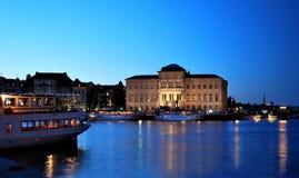 Στοκχόλμη τη νύχτα Στοκ Εικόνες