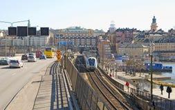 Στοκχόλμη Σουηδία Αμαξοστοιχία περιφερειακού σιδηροδρόμου Στοκ Φωτογραφίες