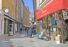 Στοκχόλμη Σουηδία Κατάστημα αναμνηστικών σε Gamla Stan Στοκ Εικόνες