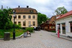 Στοκχόλμη, Σουηδία, παλαιά πλατεία της πόλης σε Skansen Στοκ φωτογραφία με δικαίωμα ελεύθερης χρήσης